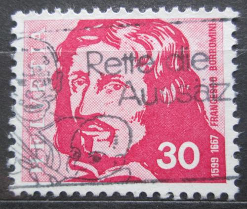 Poštovní známka Švýcarsko 1969 Francesco Borromini, architekt Mi# 908