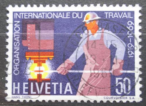Poštovní známka Švýcarsko 1969 ILO, 50. výroèí Mi# 913