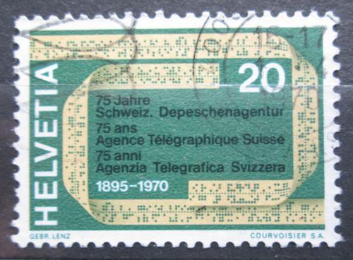 Poštovní známka Švýcarsko 1970 Dálnopis Mi# 918