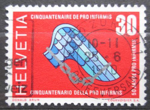 Poštovní známka Švýcarsko 1970 Pro Infirmis, 100. výroèí Mi# 920