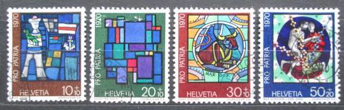 Poštovní známky Švýcarsko 1970 Náboženské umìní Mi# 925-28