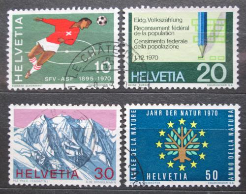 Poštovní známky Švýcarsko 1970 Výroèí a události Mi# 929-32