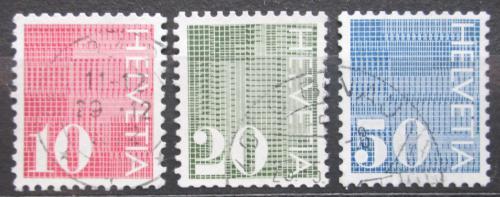 Poštovní známky Švýcarsko 1970 Nominální hodnota Mi# 933-35
