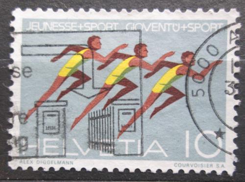 Poštovní známka Švýcarsko 1971 Gymnastika Mi# 941