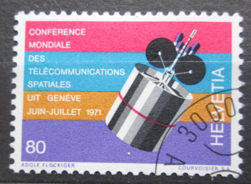 Poštovní známka Švýcarsko 1971 Satelit Intelsat IV Mi# 945