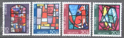 Poštovní známky Švýcarsko 1971 Náboženské umìní Mi# 949-52
