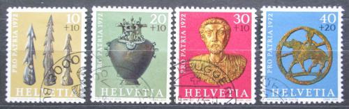 Poštovní známky Švýcarsko 1972 Archeologické nálezy Mi# 971-74