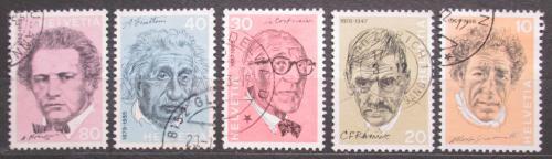 Poštovní známky Švýcarsko 1972 Osobnosti Mi# 979-83