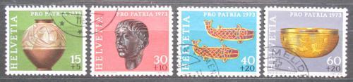Poštovní známky Švýcarsko 1973 Archeologické nálezy Mi# 996-99