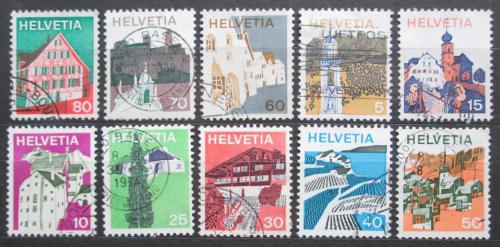 Poštovní známky Švýcarsko 1973 Turistické zajímavosti Mi# 1003-12