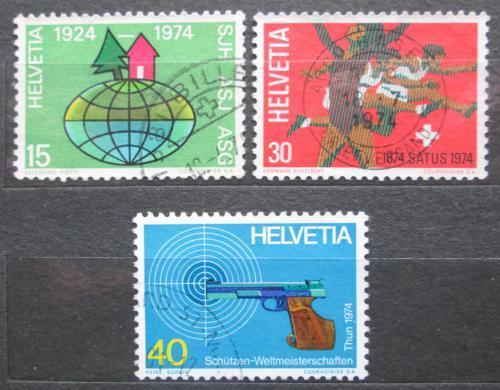 Poštovní známky Švýcarsko 1974 Výroèí a události Mi# 1017-19