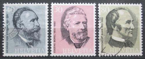 Poštovní známky Švýcarsko 1974 Osobnosti pošty Mi# 1024-26