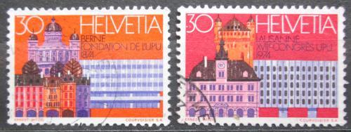 Poštovní známky Švýcarsko 1974 Svìtový poštovní kongres Mi# 1027-28