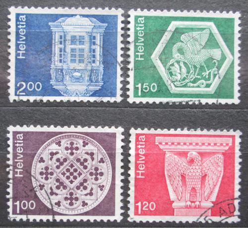 Poštovní známky Švýcarsko 1974 Architektura Mi# 1035-38