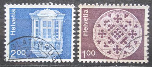 Poštovní známky Švýcarsko 1978 Architektura Mi# 1035,1038 w Kat 7€