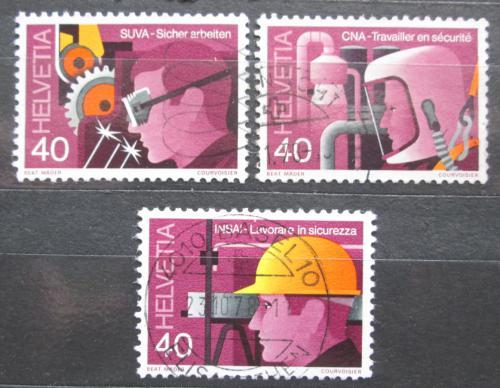 Poštovní známky Švýcarsko 1978 Bezpeènost práce Mi# 1134-36