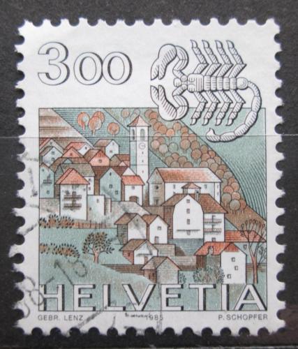 Poštovní známka Švýcarsko 1985 Znamení zvìrokruhu, rak Mi# 1289