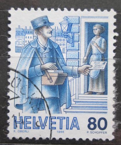 Poštovní známka Švýcarsko 1986 Poštovní doruèovatel Mi# 1325