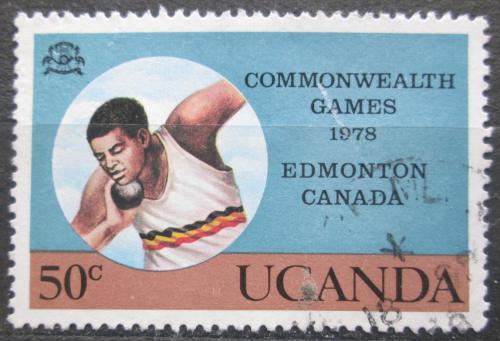 Poštovní známka Uganda 1978 Vrh koulí Mi# 179