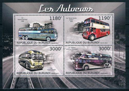 Poštovní známky Burundi 2012 Autobusy Mi# 2903-06 Kat 10€