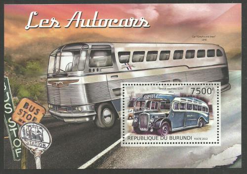 Poštovní známka Burundi 2012 Autobusy Mi# Block 305 Kat 9€