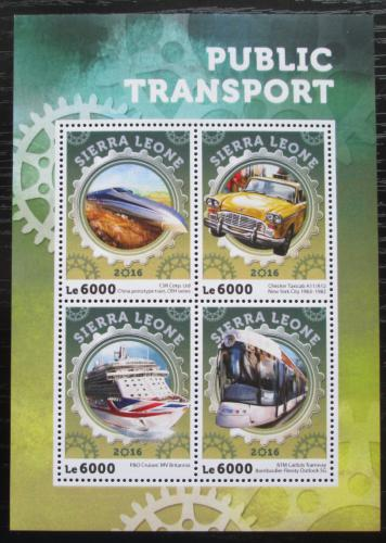 Poštovní známky Sierra Leone 2016 Veøejná doprava Mi# 7138-41 Kat 11€