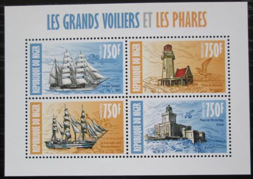 Poštovní známky Niger 2013 Plachetnice a majáky Mi# 2298-2301 Kat 12€