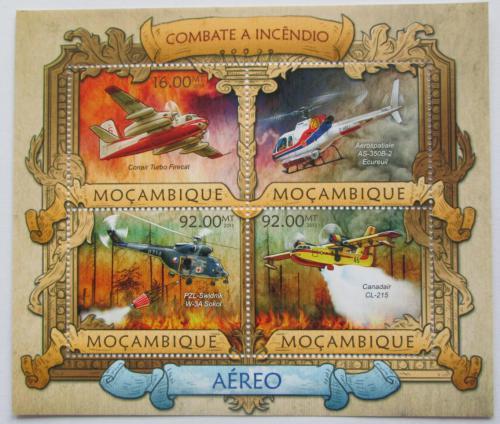 Poštovní známky Mosambik 2013 Letecká požární služba Mi# 6419-22 Kat 13€