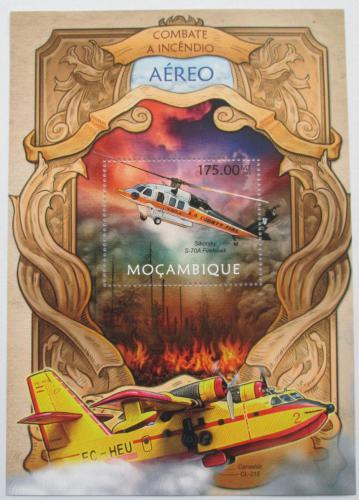 Poštovní známka Mosambik 2013 Letecká požární služba Mi# Block 735 Kat 10€