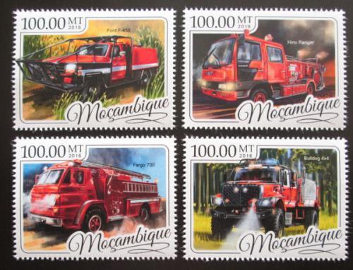 Poštovní známky Mosambik 2016 Hasièská auta Mi# 8804-07 Kat 22€