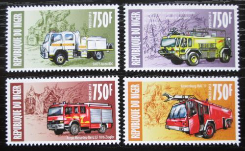 Poštovní známky Niger 2013 Hasièská auta Mi# 2318-21 Kat 12€