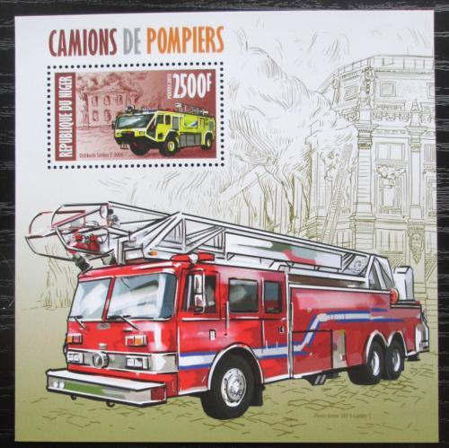 Poštovní známka Niger 2013 Hasièská auta Mi# Block 204 Kat 10€