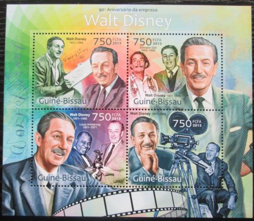 Poštovní známky Guinea-Bissau 2013 Walt Disney Mi# 6427-30 Kat 12€