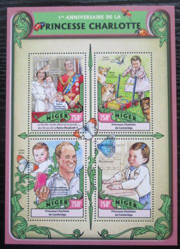 Poštovní známky Niger 2016 Princezna Charlotte Mi# 4332-35 Kat 12€