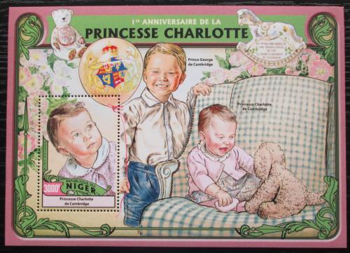 Poštovní známka Niger 2016 Princezna Charlotte Mi# Block 571 Kat 12€