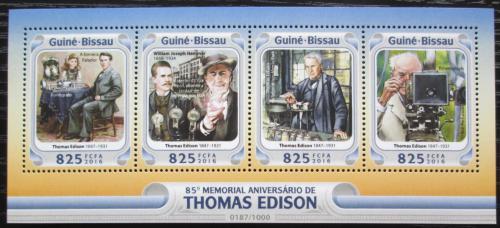 Poštovní známky Guinea-Bissau 2016 Thomas Alva Edison Mi# 8479-82 Kat 12.50€
