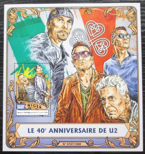 Poštovní známka Niger 2016 U2, hudební skupina Mi# Block 518 Kat 14€