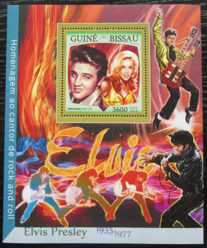 Poštovní známka Guinea-Bissau 2016 Elvis Presley Mi# Block 1499 Kat 13.50€