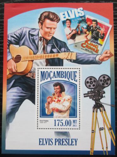 Poštovní známka Mosambik 2013 Elvis Presley Mi# Block 823 Kat 10€