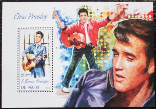 Poštovní známka Svatý Tomáš 2013 Elvis Presley Mi# Block 909 Kat 10€