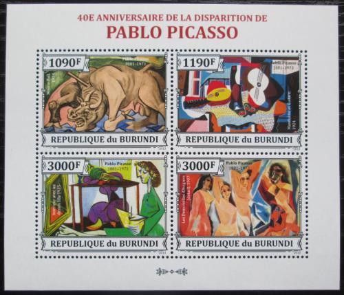 Poštovní známky Burundi 2013 Umìní, Pablo Picasso Mi# 3313-16 Bogen Kat 10€