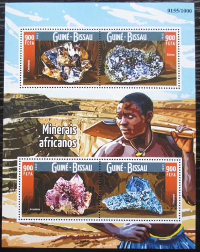 Poštovní známky Guinea-Bissau 2015 Minerály Mi# 8217-20 Kat 13.50€