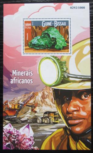 Poštovní známka Guinea-Bissau 2015 Minerály Mi# Block 1426 Kat 13.50€