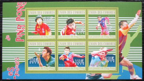 Poštovní známky Komory 2010 Stolní tenis Mi# 2810-15 Kat 10€