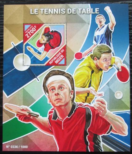 Poštovní známka Niger 2015 Stolní tenis Mi# Block 494 Kat 10€