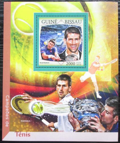 Poštovní známka Guinea-Bissau 2016 Novak Djokoviè, tenis Mi# Block 1496