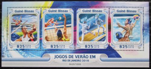Poštovní známky Guinea-Bissau 2016 LOH Rio de Janeiro Mi# 8504-07 Kat 12.50€