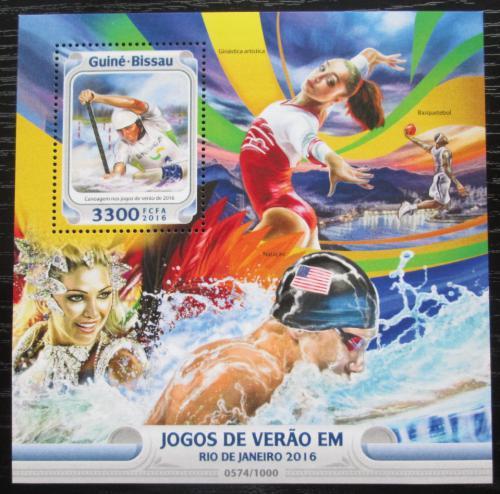 Poštovní známka Guinea-Bissau 2016 LOH Rio de Janeiro Mi# Block 1472 Kat 12.50€