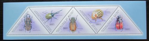 Poštovní známky Guinea 2011 Brouci Mi# 8554-58 Kat 20€