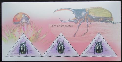 Poštovní známky Guinea 2011 Brouci Mi# Block 1981 Kat 18€